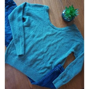 Garage | Gray Scoop Neck Sweater